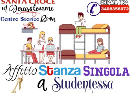 camera singola a studentessa